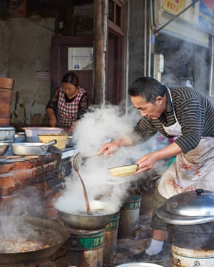 Chef Bin Li in the kitchen of 'A Heavenly Table' restaurant, China