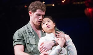 'Why does nothing here make sense?' … Alistair Brammer as Chris and Eva Noblezada as Kim.