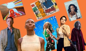 Autumn highlights, clockwise from top left: Yayoi Kusama; Fernad Léger's Two Women Holding Flowers; Michelle Obama's Becoming; Kiernan Shipkas in The Chilling Adventures of Sabrina; Héloïse Letissier of Christine and the Queens; Gabrielle Brooks in Twelfth Night at the Young Vic; Michaela Coel in Black Earth Rising; John Simm in Strangers.