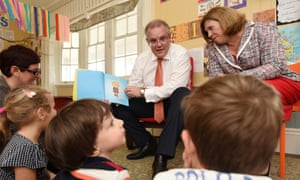 It has been a tough year and we all need a little escape ... Scott Morrison reads to toddlers.