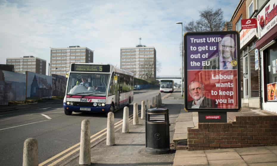 A Ukip campaign poster in central Stoke-on-Trent.