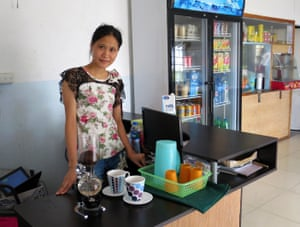 A barista at the Capital restaurant
