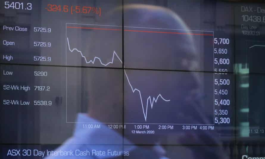 Digital market boards at the Australian Securities Exchange (ASX) in Sydney