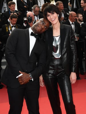 """Barry Jenkins and Clotilde Hesme attend the """"Twin Peaks"""" screening during the 70th annual Cannes Film Festival at Palais des Festivals on May 25, 2017 in Cannes, France"""