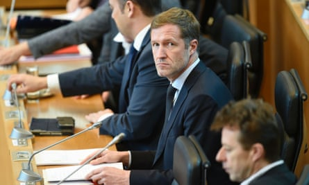 Paul Magnette (centre), Wallonia's leader, 'has put his Parti Socialiste back on the map'