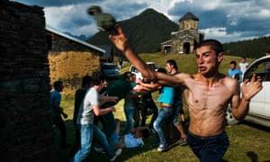 Tusheti, Georgia: A fight broke out among boys