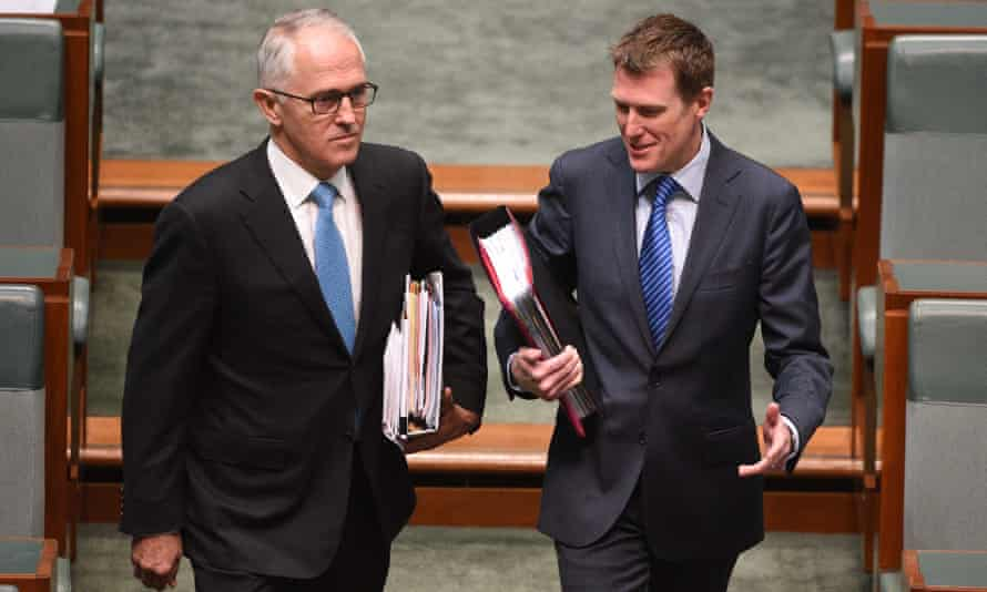 Malcolm Turnbull and Christian Porter