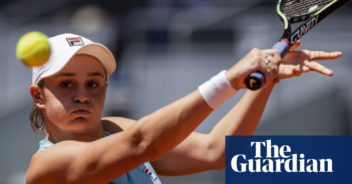 Brilliant Ash Barty in a tennis bubble all of her own after reaching Madrid final