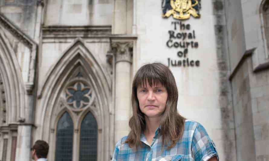 Helen Steel at the royal courts of justice in London