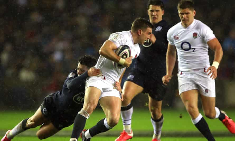 George Ford carries the ball during England's win over Scotland