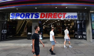 People outside a Sports Direct store in central London