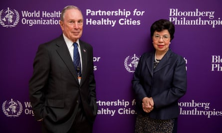 Michael Bloomberg and WHO director-general Dr Margaret Chan