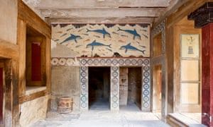 Cornerstones … the dolphin fresco in the palace of Knossos, Crete, where the labyrinth myth may have begun.