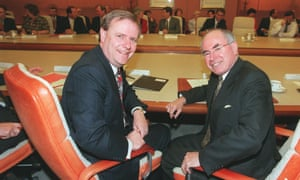 Peter Costello and John Howard in cabinet in October 1998