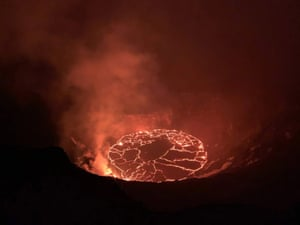 The continuing eruption in the Halema'uma'u crater at Kilauea volcano, Hawaii