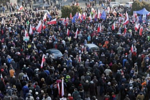 Protest held in Katowice by the Committee for the Defence of Democracy19 Dec 2015, Katowice, Poland.