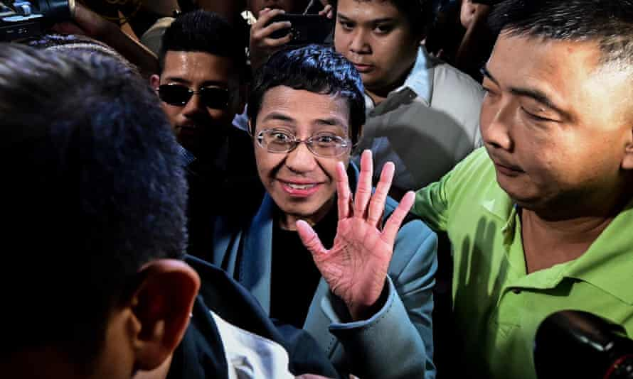 Philippine journalist Maria Ressa posted bail in Manila in her cyber-libel case at a local court in Manila.
