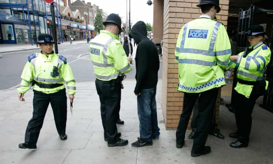 police perform a stop and search