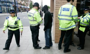 Police perform a stop and search. The report is the result of six months of work with young people from across the capital.