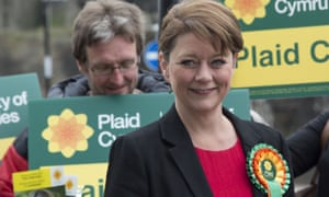 Plaid Cymru leader Leanne Wood Plaid Cymru campaigning in Caerphilly, Wales