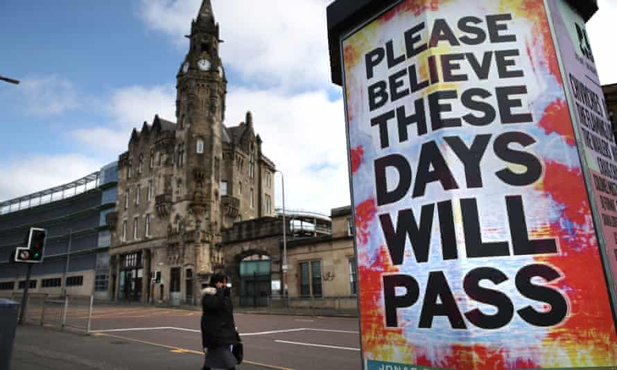A poster outside Glasgow Royal Infirmary: 'I hope there's a certain poetry in me trying to monetise my penury like this. It'd be some comfort in lieu of a fortune.'