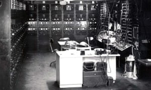 """A receiver control bay in Knockholt, Kent, where staff worked on decoding heavily encrypted German """"noise""""."""