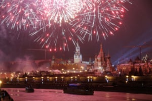 New Year celebrations on Red Square in Moscow