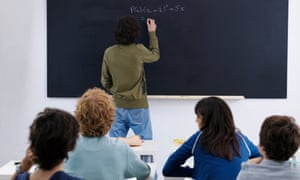 High School Class in Algebra Lesson