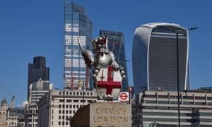 A dragon boundary mark at the City of London.