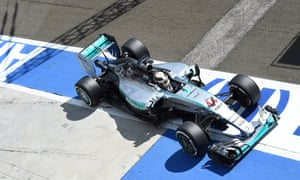 Lewis Hamilton pits for a new front wing.