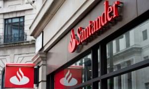 Santander signage above a branch.