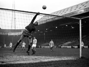 Despite being a World Cup winner in the previous summer, Banks was dropped towards the end of the 1966–67 season in favour of highly promising teenage reserve Peter Shilton. Banks was then transfer listed for £50,000 and moved to Stoke City. Banks made what he believed to be three of the best saves of his career in a Stoke shirt. In the first instance he saved and caught a powerful and well-placed header from Manchester City's Wyn Davies from just eight yards out; in the second case he saved a Francis Lee header at Maine Road; and he made his third great save for the club by catching a volley from Tottenham Hotspur's Alan Gilzean that had been hit from just six yards out at White Hart Lane