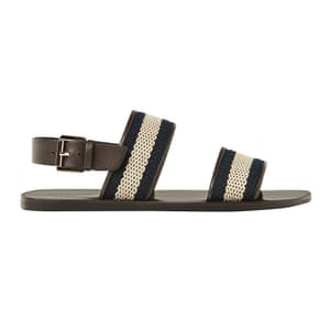 flat sandals with two cloth straps on top black cream brown Zara