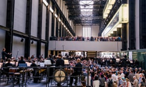 Sir Simon Rattle, Matthias Pintscher and Duncan Ward conduct the three ensembles in the Turbine Hall.
