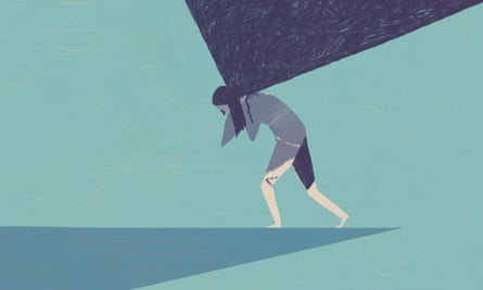 illustration for long read by Devorah Baum about modern guilt