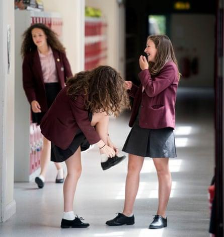Pupils at Stroud high school.