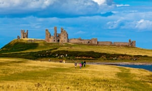 The ruins of Dunstanburgh Castle.