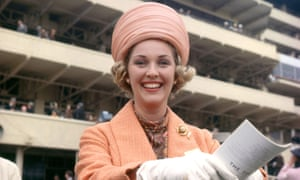 Katie Boyle at the Epsom Derby in 1963.