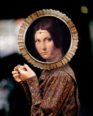La Belle Ferronnière by Leonardo da Vinci photographed by Michael Thibault