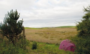 North Rhinns Camping with view