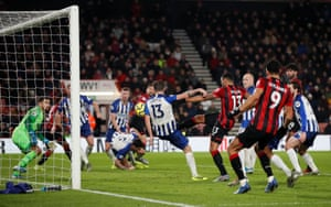 Pascal Gross scores an own goal and Bournemouth's second.