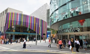 The Liverpool One shopping development, which involved the corporate enclosure of several previously public streets.