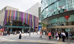 Liverpool One shopping development. UK retail sales jumped 1.4% in February