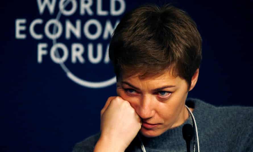 Yelizaveta Osetinskaya attending the world economic forum in Davos in January.