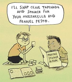 Berger & Wyse on Panini stickers – cartoon