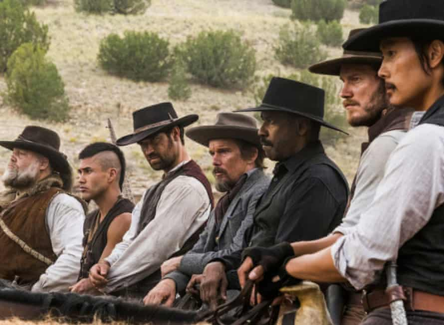 A 2016 remake of The Magnificent Seven. Director: Antoine Fuqua stars Ethan Hawke, Denzel Washington and Chris Pratt