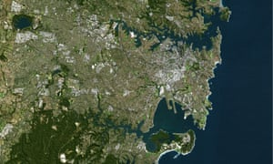 Sydney from a satellite