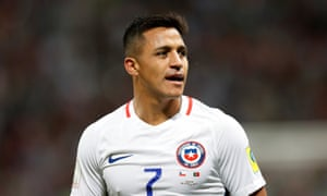 Alexis Sánchez, who is at the Confederations Cup with Chile, has one year left on his Arsenal contract.