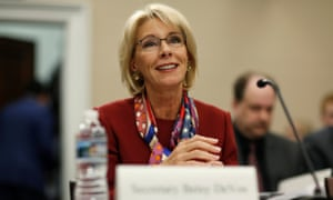 Betsy DeVos, the education secretary, supports the option of arming teachers.