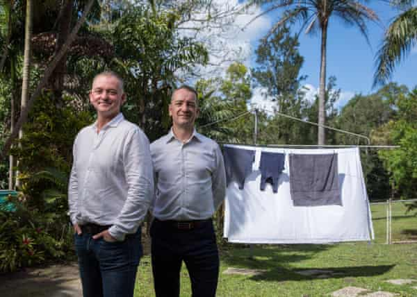 Graham Ross and Adrian Jones, who says waste from textiles is a global problem